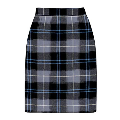 Tartan Pencil Skirt (any length) in Patriot Ancient