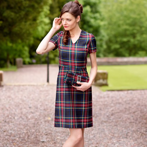 Fitted Tartan Dress Made To Order