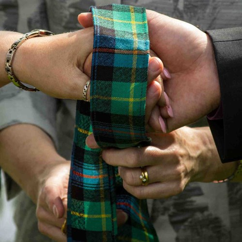Tartan Handfasting Ribbon Made To Order