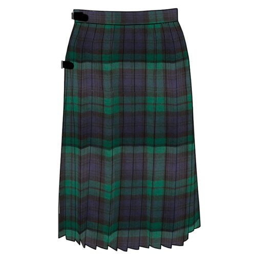 Tartan Kilted Skirt in Keith Modern