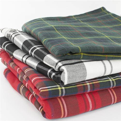 Polycotton Tartan Fabric Made To Order