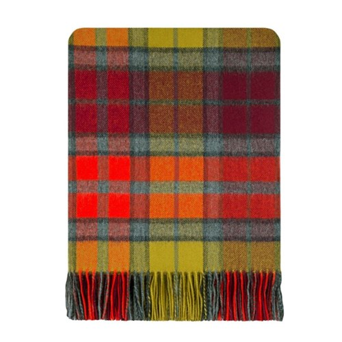Brushed Wool Tartan Rug in Gordon Dress Modern