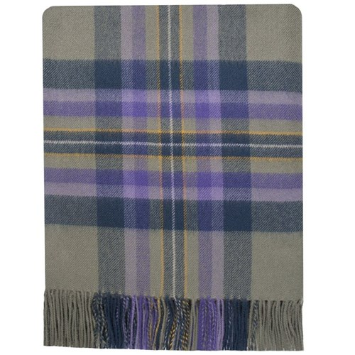 Brushed Wool Tartan Rug in Heather Isle